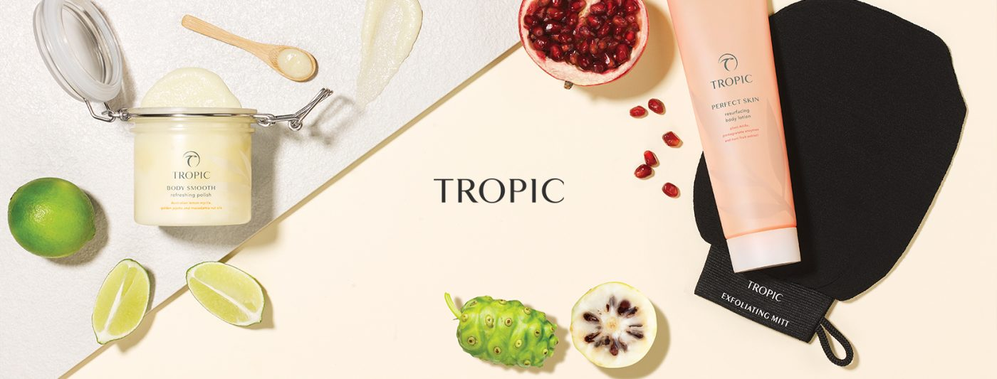 Tropic skincare banner